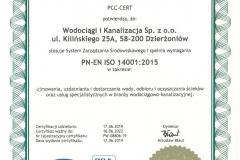Certyfikat 14001
