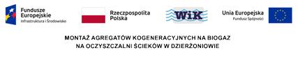 Montaż agregatów kogeneracyjnych na biogaz na Oczyszczalni ścieków w Dzierżoniowie